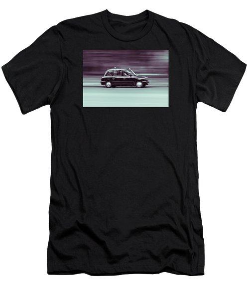 Black Taxi Bw Blur Men's T-Shirt (Athletic Fit)