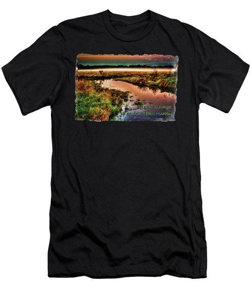 Black Tern Marsh October Sunrise Men's T-Shirt (Athletic Fit)