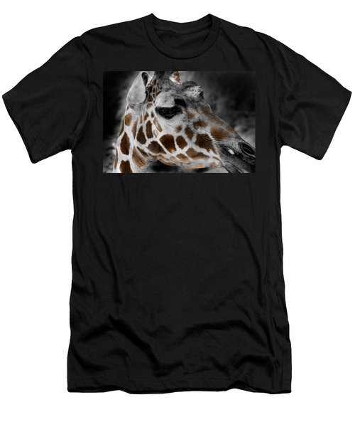Black  White And Color Giraffe Men's T-Shirt (Athletic Fit)
