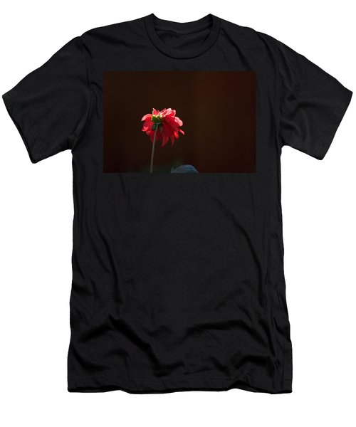 Black With Rose Men's T-Shirt (Athletic Fit)