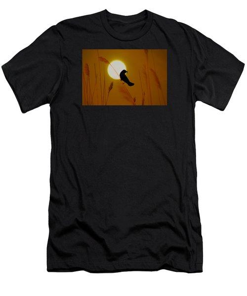 Blackbird At Sunrise Men's T-Shirt (Athletic Fit)