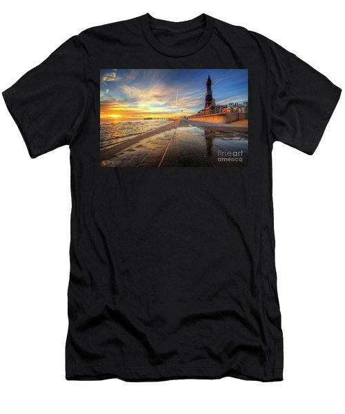 Men's T-Shirt (Slim Fit) featuring the photograph Blackpool Sunset by Yhun Suarez