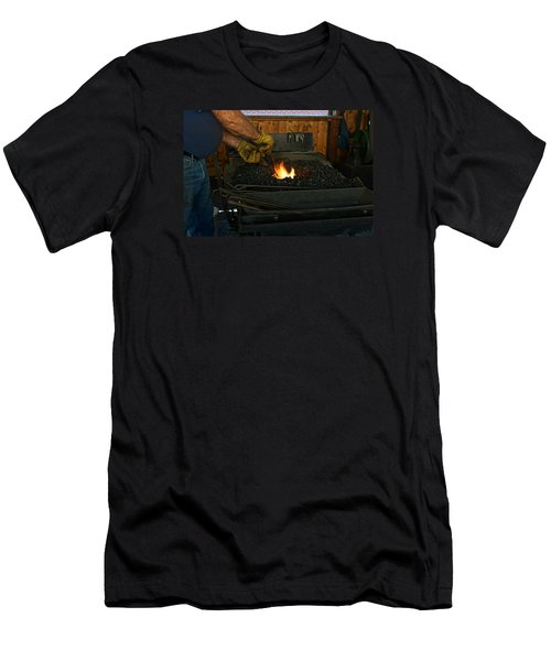 Blacksmith At Work Men's T-Shirt (Athletic Fit)
