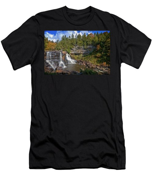 Blackwater Falls  In Autumn 3879c Men's T-Shirt (Athletic Fit)