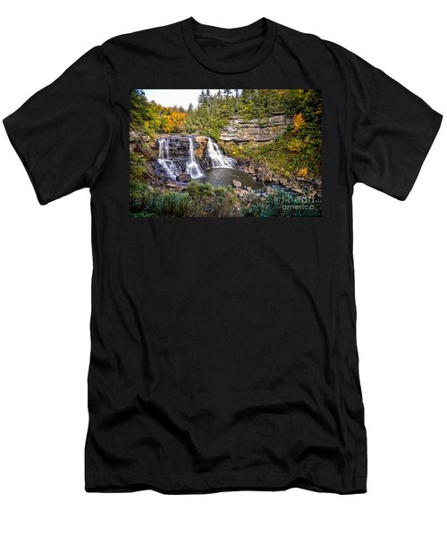 Blackwater Falls In Autumn3836c Men's T-Shirt (Athletic Fit)