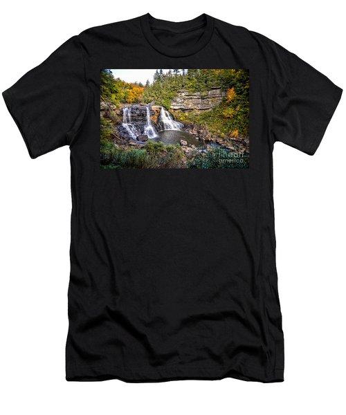 Blackwater Falls In Autumn3836c Men's T-Shirt (Athletic Fit)