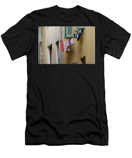 Men's T-Shirt (Athletic Fit) featuring the photograph Blanchisserie by Rasma Bertz