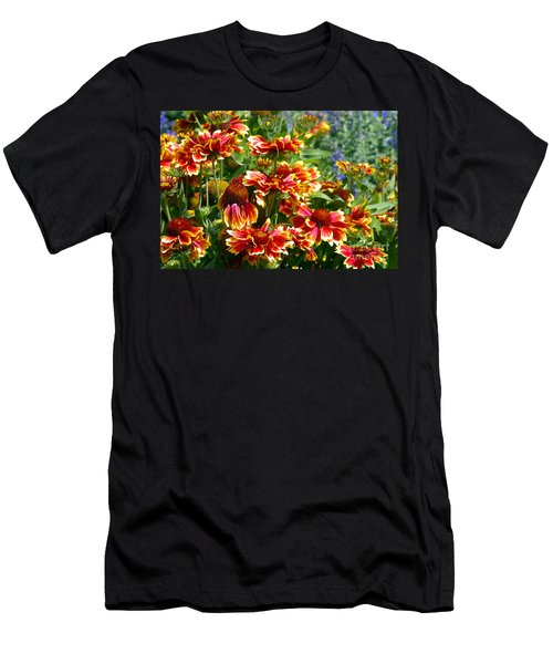 Blanket Flowers Men's T-Shirt (Athletic Fit)