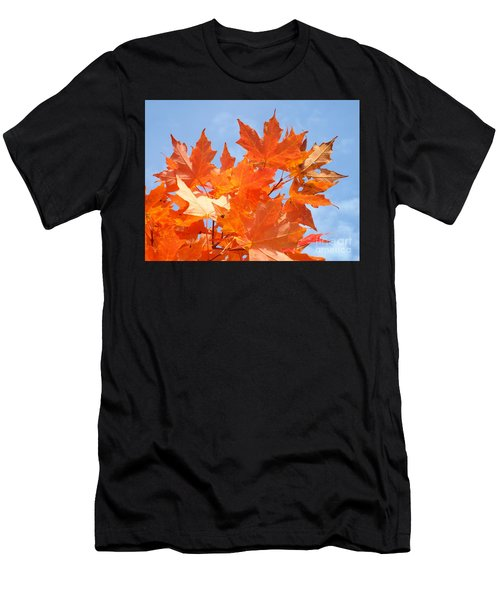 Men's T-Shirt (Athletic Fit) featuring the photograph Blazing Maple by Barbara Von Pagel