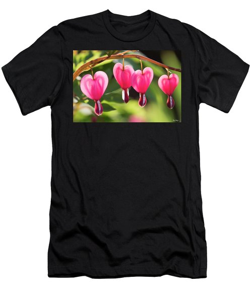 Bleeding Hearts Men's T-Shirt (Athletic Fit)