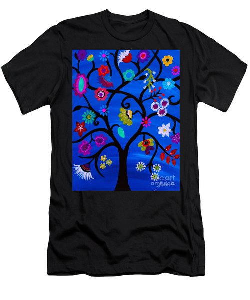 Blessed Tree Of Life Men's T-Shirt (Athletic Fit)
