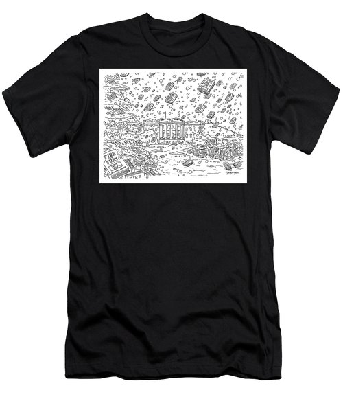 Blizzard Of Fire And Fury Men's T-Shirt (Athletic Fit)