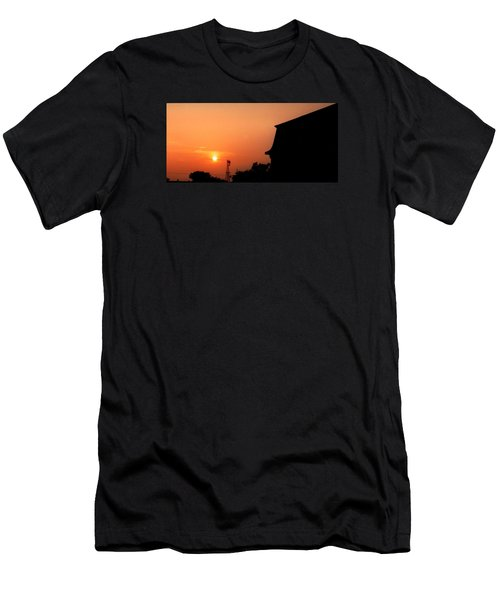 Block Island Sunset Men's T-Shirt (Athletic Fit)