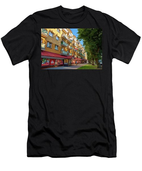 Men's T-Shirt (Athletic Fit) featuring the photograph Block Of Rainbow by Tgchan