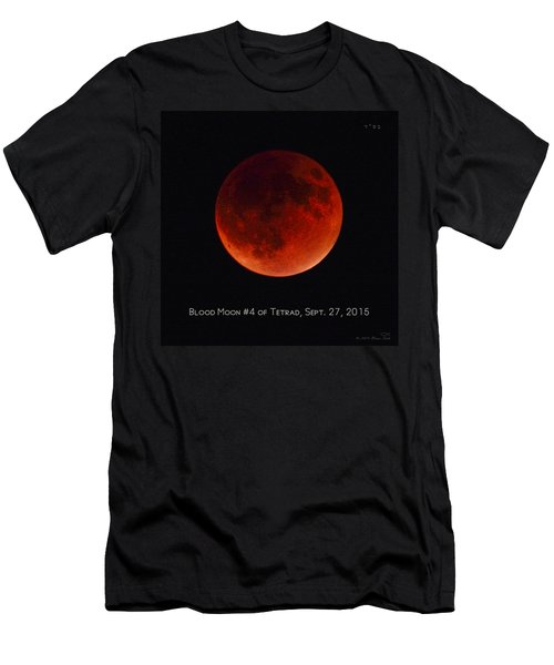Blood Moon #4 Of Tetrad, Without Location Label Men's T-Shirt (Athletic Fit)