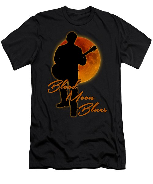 Blood Moon Blues T Shirt Men's T-Shirt (Slim Fit) by WB Johnston