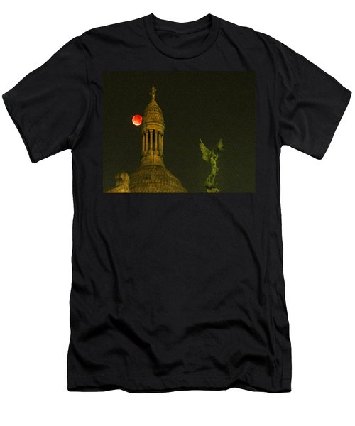 Blood Moon Eclipse At Sacre Coeur Paris  2015 Men's T-Shirt (Athletic Fit)