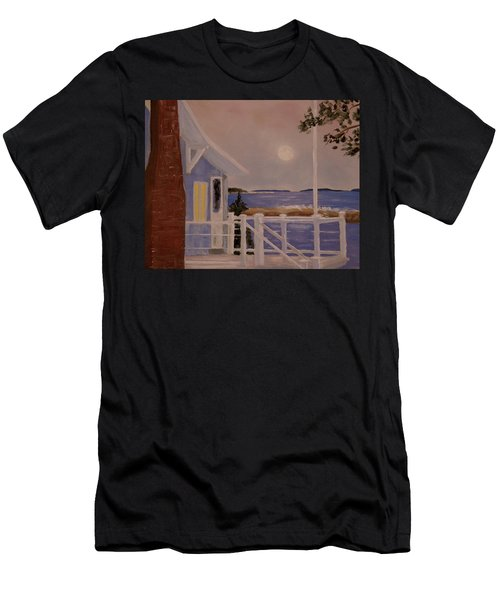 Blood Moon Over Muscongus Sound Men's T-Shirt (Athletic Fit)