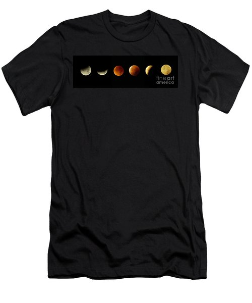 Blood Moon Phases Men's T-Shirt (Slim Fit) by Rudi Prott