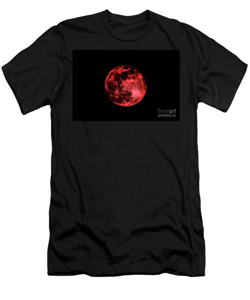 Blood Red Moonscape 3644b Men's T-Shirt (Athletic Fit)