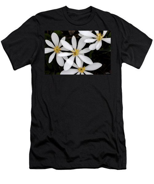 Men's T-Shirt (Slim Fit) featuring the photograph Sanguinaria by Skip Tribby