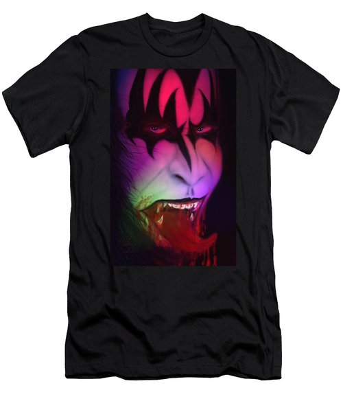 Men's T-Shirt (Slim Fit) featuring the painting Bloody Demon by Kevin Caudill