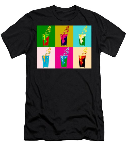 Bloody Mary Pop Art Panels Men's T-Shirt (Athletic Fit)