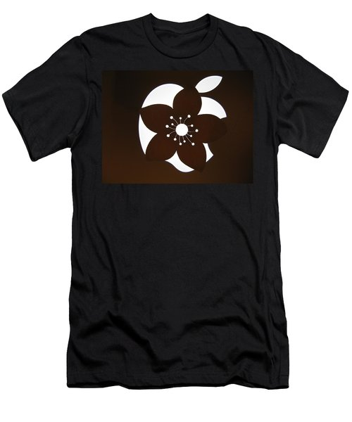 Blooming Apple Mac Men's T-Shirt (Slim Fit) by Ausra Huntington nee Paulauskaite