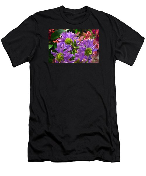 Men's T-Shirt (Slim Fit) featuring the photograph Blooming Asters by Merton Allen