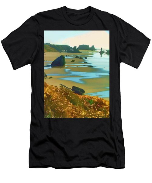 Blooming Bandon Watercolor Men's T-Shirt (Athletic Fit)