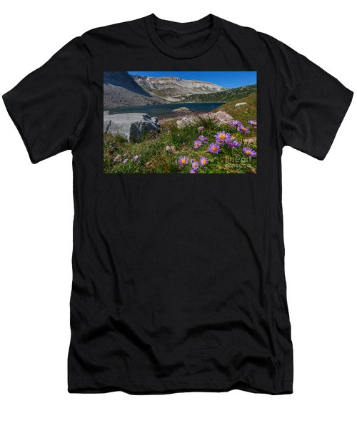 Blooming In Snowy Range Men's T-Shirt (Athletic Fit)