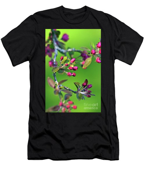 Men's T-Shirt (Athletic Fit) featuring the photograph Blooming Spring Poetry by Silva Wischeropp