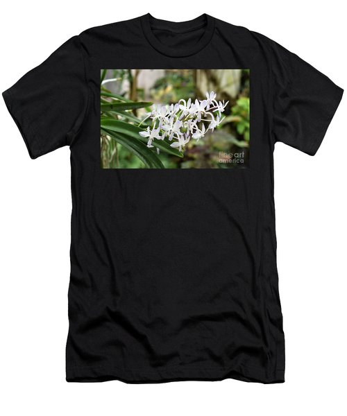 Blooming White Flower Spike Men's T-Shirt (Athletic Fit)