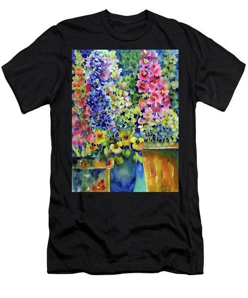Blooms In Pots Men's T-Shirt (Athletic Fit)