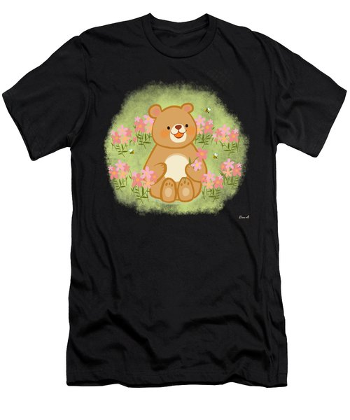 Blossoms Bees And A Bear Men's T-Shirt (Athletic Fit)