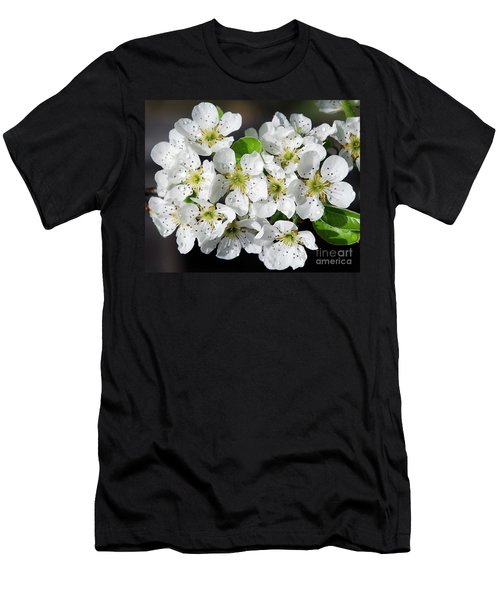 Men's T-Shirt (Slim Fit) featuring the photograph Blossoms by Elvira Ladocki