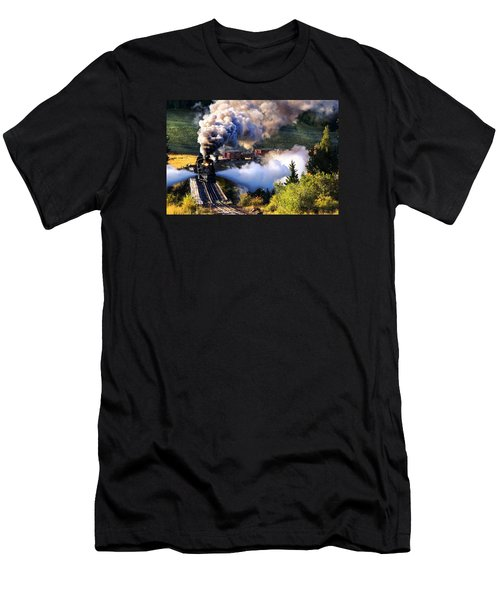 Men's T-Shirt (Slim Fit) featuring the photograph Blowdown On Lobato Trestle by Ken Smith