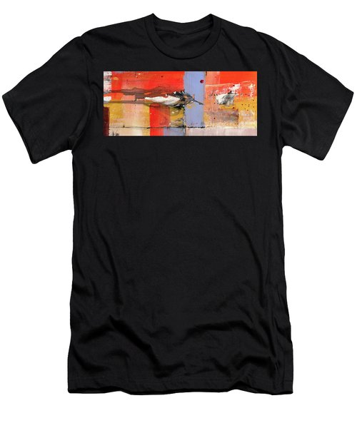 Blowin In The Wind - Colorful Linear Abstract Art Study Men's T-Shirt (Athletic Fit)