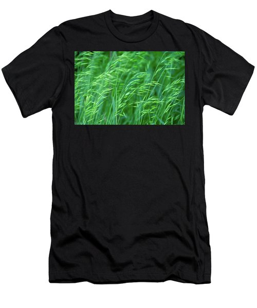 Blowing Green Men's T-Shirt (Athletic Fit)