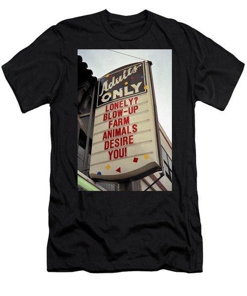 Blowup Farm Animals Sign Men's T-Shirt (Athletic Fit)