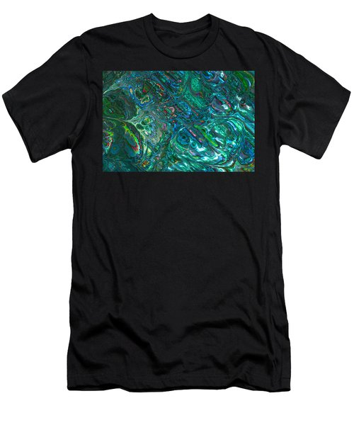 Blue Abalone Abstract Men's T-Shirt (Athletic Fit)