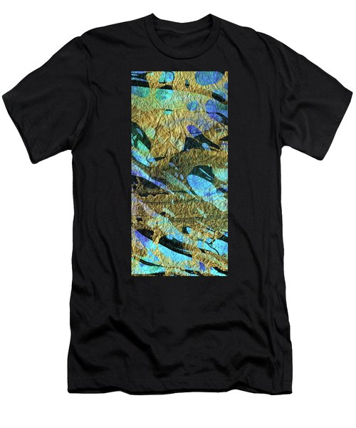 Blue Abstract Art - Deeper Visions 2 - Sharon Cummings Men's T-Shirt (Athletic Fit)