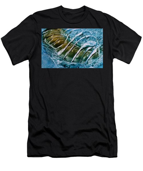 Blue Abstract Dark Ribbon Centre Men's T-Shirt (Athletic Fit)