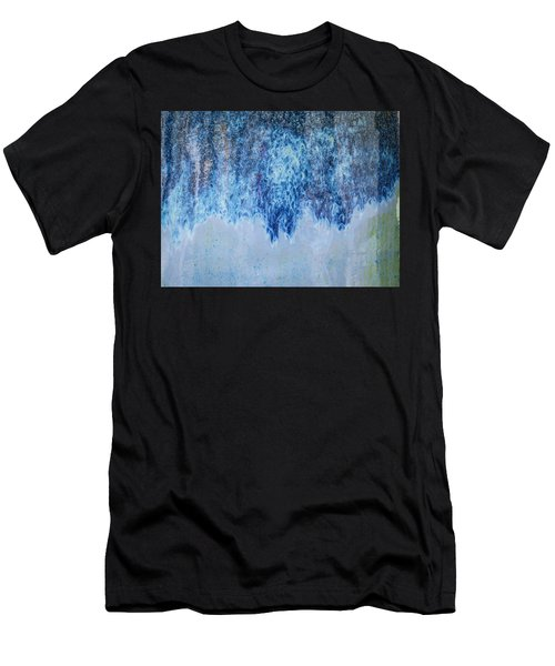Men's T-Shirt (Athletic Fit) featuring the photograph Blue Abstract One by David Waldrop