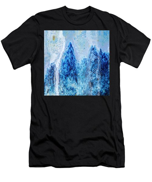 Men's T-Shirt (Athletic Fit) featuring the photograph Blue Abstract Two by David Waldrop