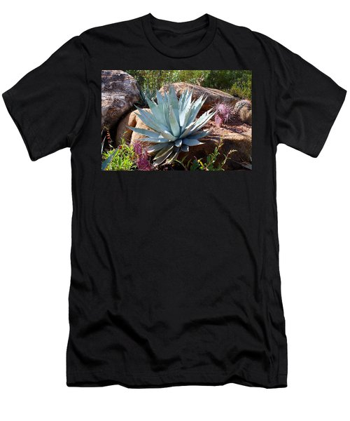 Men's T-Shirt (Slim Fit) featuring the photograph Blue Agave by Kathryn Meyer