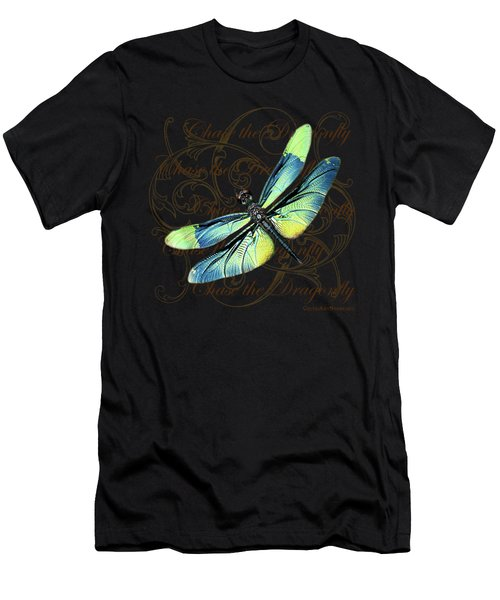 Blue And Green Dragonfly Men's T-Shirt (Athletic Fit)