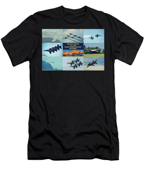 Men's T-Shirt (Athletic Fit) featuring the photograph Blue Angels Compilation by Dan McManus