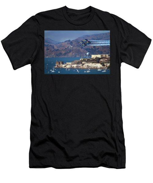 Blue Angels Over Alcatraz Men's T-Shirt (Athletic Fit)