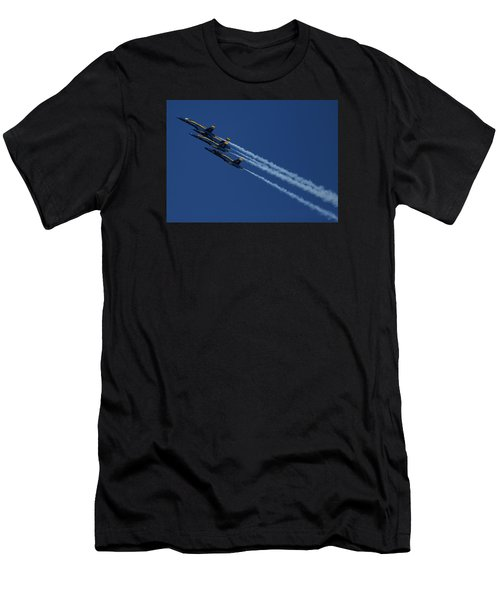Blue Angels Over San Francisco Bay Men's T-Shirt (Athletic Fit)